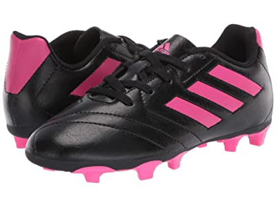 adidas Kids Goletto VII FG Soccer (Toddler/Little Kid/Big Kid) (Black/Shock Pink) Kids Shoes
