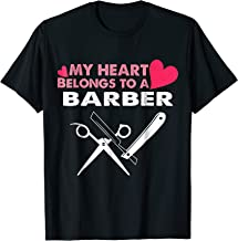 BARBER wife shirt My heart belongs to a BARBER gifts