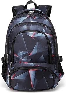 Boys Backpacks for Kids Girls Primary School Bag Kindergarten Bookbags (Black,Red)
