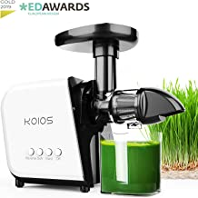 KOIOS Juicer, Slow Masticating Juicer Extractor ≤60 dB, Reverse Function & 7 Level Longer Spiral System, BPA-Free, Cold Press Juicer Machines with Brush, Creates High Nutrient Fruit and Veggies Juice