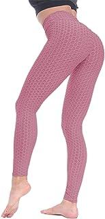 BEELU FASHION BOUTIQUE Scrunch Butt Lifting Push Up Leggings for Women High Waist Workout Running Yoga Pant(French Pink,L)