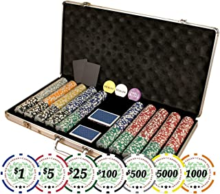 DA VINCI Set of of 750 Casino Del Sol 11.5 Gram Poker Chips with Case, Cards, Dealer Buttons and 2 Cut Cards