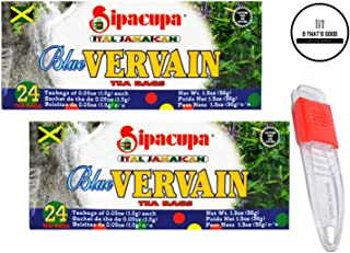 Sipacupa Blue Vervain Tea Bags Pack of 2 with Adjustable Measuring Spoon in Sealed O Datz Good Packaging