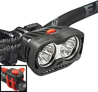NiteRider Pro 3600 Endure Remote High Performance MTB Race Dual Head 6 LEDs Bike Light, 3600 Lumens Durable Bicycle Front Light. Excellent Off-Road MTB Beam Pattern