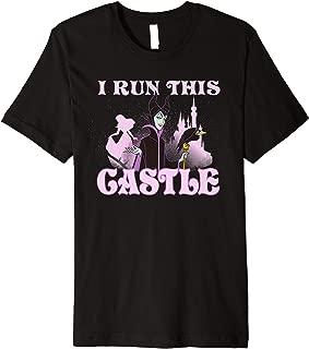 Disney Sleeping Beauty Maleficent I Run This Castle Portrait Premium T-Shirt