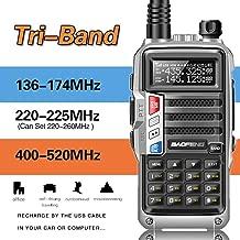 2019 BaoFeng UV-9S Tri-Band 5W VHF,1.25M,UHF 136-174Mhz/220-225Mhz/400-520Mhz 1Extra 220 Antenna Portable Two Way Radio