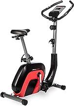 Ultrasport Bicicleta estática Racer 2000 con Pantalla táctil Compatible con Bluetooth, sensores de frecuencia cardíaca, 8 Niveles de Resistencia, sillín y Manillar Ajustables, Unisex, Negro/Rojo
