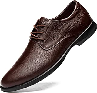 Zapatos casuales Zapatos de Oxford de los hombres, zapatos casuales de encaje de punta en relieve con estampado en relieve...