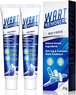 2Pcs Wart Remover,Skin Tag Remover,Instant Blemish Removal Gel, Mole Remover Removal Body Warts Treatment Cream Foot Care ...