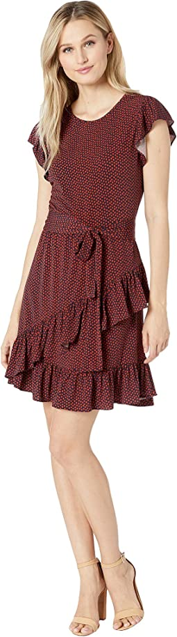 Bud Flutter Wrap Skirt Dress