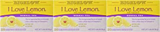 Bigelow Tea Bags, I Love Lemon, 20 Count (pack of 3)