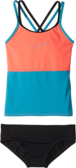 Nike Kids - Color Surge Spiderback Tankini Set (Big Kids)