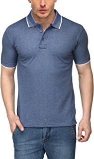 Scott International Men's Melange Cotton Polo T-Shirt