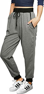 Allegra K Women's Back to Drawstring French Terry Jogger Pants