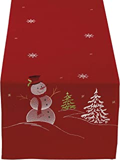 DII Christmas Holiday Embroidered Table Runner 14 x 70