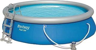 Bestway 57294Fast Pool Set 457x 107cm, con Bomba de Filtro y Accesorios, Color Azul