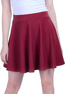 HDE Women's Skater Skirt Pleated Flared A Line Circle Stretch Waist Skater Skirt