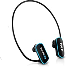 Waterproof MP3 Player Swim Headphone - Submersible IPX8 Flexible Wrap-Around Style Headphones Built-in Rechargeable Batter... photo