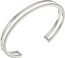 Sterling Silver Coin Edge Cuff Bracelet