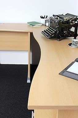 Germania Combinaison de bureau d'angle avec conteneur roulant 0495-11 coloris Hêtre-repro, l/h/p env. 140/75/70 cm