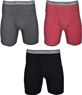 Fruit of the Loom Plus Size Men Solid &Stripes Boxer Briefs