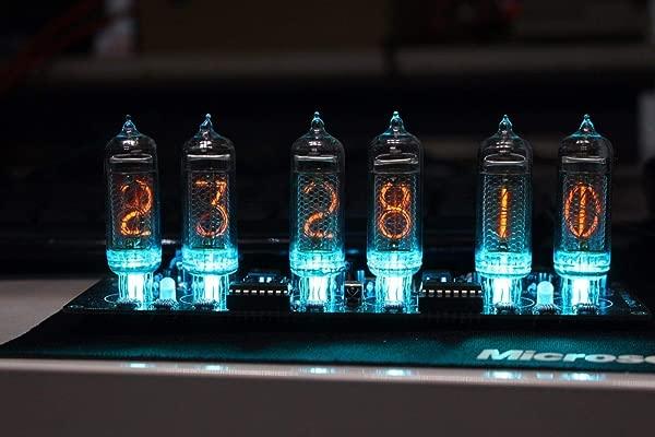NIXT 时钟 IN14 Nixie 时钟 DIY 套件电源远程温度