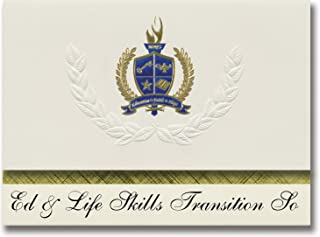 Signature Announcements Ed & Life Skills Transition So (Glenview, IL) Graduation Announcements, Presidential style, Elite ...