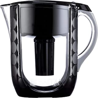 Brita Large 10 Cup Water Filter Pitcher with 1 Standard Filter, BPA Free - Grand, Black Bubbles