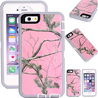 Kecko(TM) Defender Tough Camo Tree Grass Shockproof High Impact Hybrid Armor Case Cover W/ a Build On Screen for iphone 6 4.7