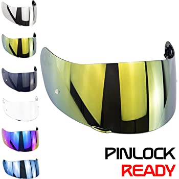 VISIERA AGV GT2 AS PLK READY IRIDIUM GOLD ORO ANTIGRAFFIO PER CASCO K-3 SV XL