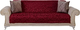 Chiara Rose Couch Covers for Dogs Sofa Cushion Slipcover 3 Seater Furniture Protectors Futon Cover, Sofa, Acacia Burgundy