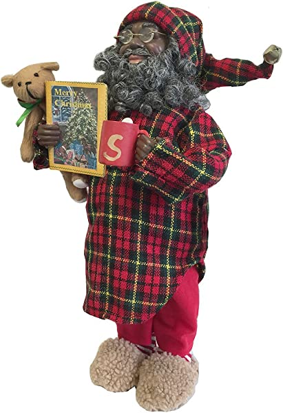 Santa S Workshop 9984 African American Pajama Claus Figurine 15