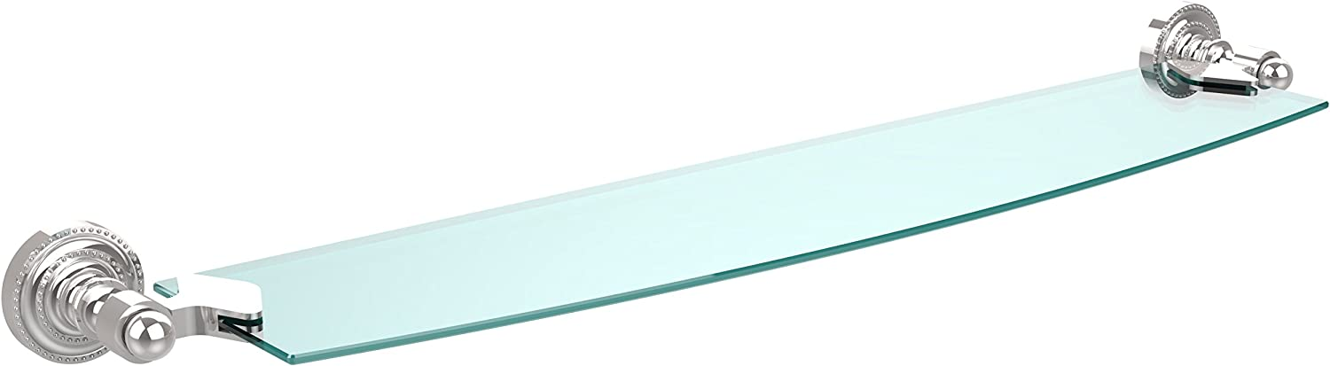 Allied Brass DT-33 24-PC 24-Inch X 5-Inch Glass Shelf Polished Chrome