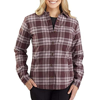 Carhartt Plus Size Rugged Flex Relaxed Fit Flannel Fleece-Lined Plaid Shirt