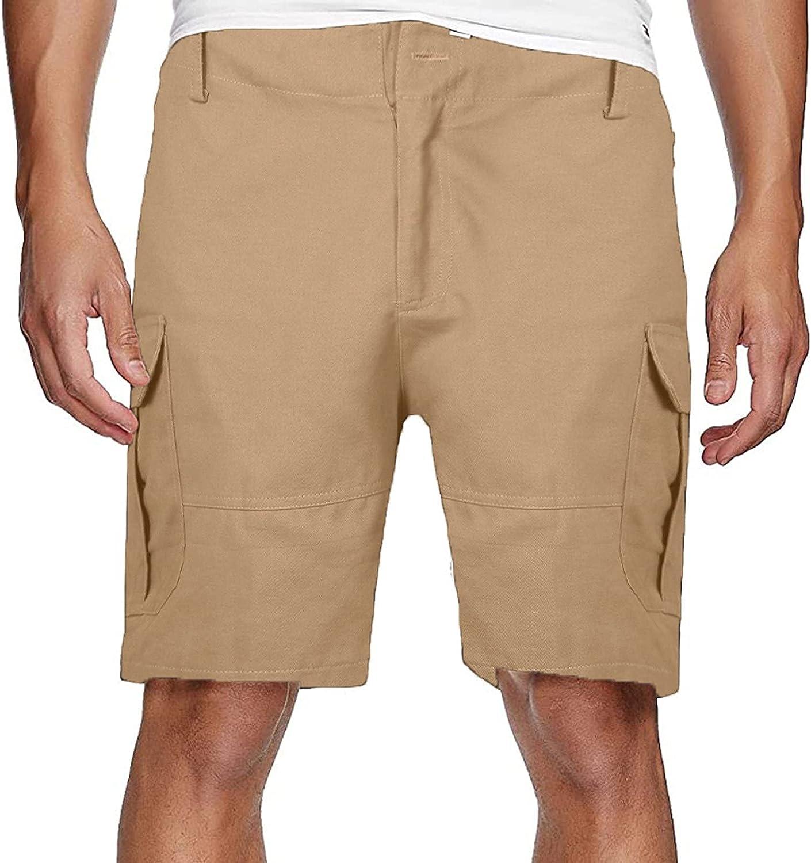 LEIYAN Mens Cargo Work Shorts Casual Drawstring Elastic Waist Loose Fit Athletic Joggers Cotton Beach Lounge Shorts