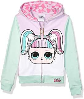 L.O.L. Surprise! Girls' The Theater Club Unicorn Big Face Zip-up Hoodie