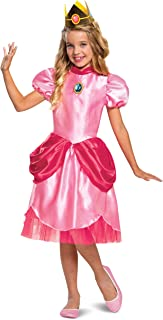 Disguise Girl's Super Mario Classic Princess Peach Costume Size 4/6