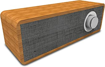 Portable Wooden Retro Bluetooth Speaker, Bluetooth 5.0 Shocking Bass Stereo Surround, 8 Hours Playback Time, Suitable for Indoor/Outdoor/Decoration,Gray