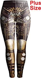 Steampunk Leggings para Mujer, diseño gótico,