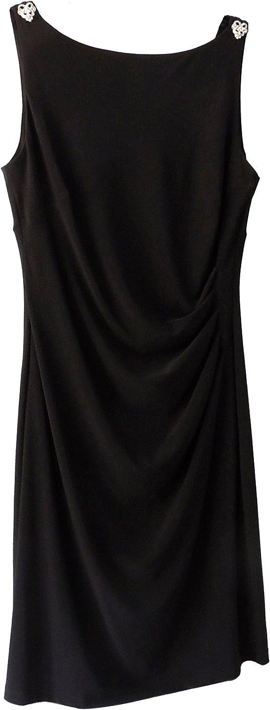 Ralph Lauren Lauren Women's Embellished Sleeveless Jersey Dress Black, 12