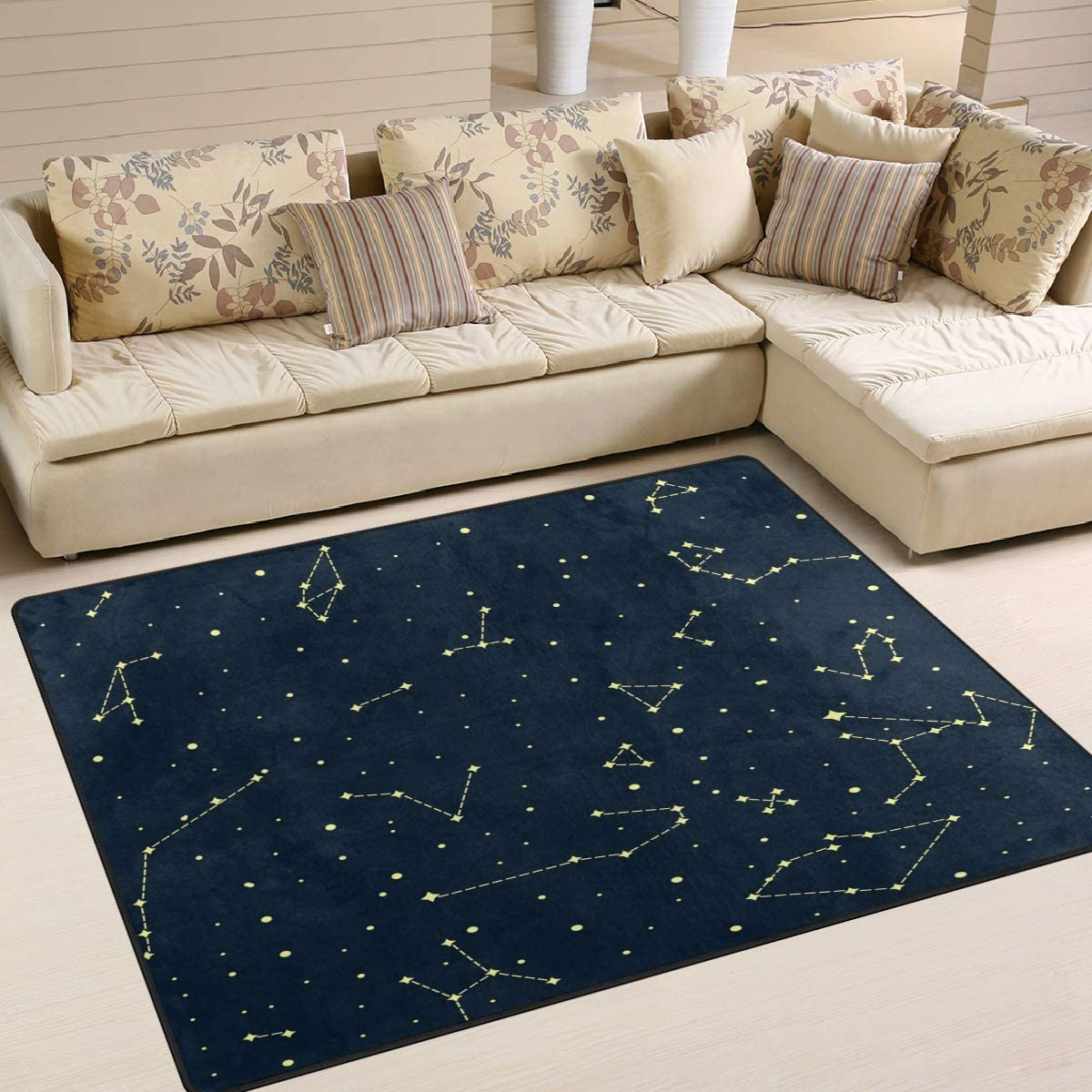 ALAZA Constellation Sale SALE% OFF Space Star Universe Sky for Rugs Charlotte Mall Rug Li Area