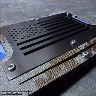 Gunmetal Patriot. Minimalist Holstex/Kydex Tactical Wallet, Black Metal RFID Shield Front Plate. Multi Tool and Money Clip.