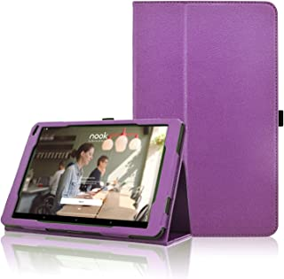 Nook 10.1 Tablet Case BNTV650 2018 Release, ACdream Premium Folio PU Leather Tablet Cover Case for Barnes & Noble Nook 10.1 Tablet with Auto Wake Sleep Feature, (Purple)