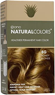 ONC NATURALCOLORS 8G Honey Blonde Healthier Permanent Hair Color Dye 4 fl. oz. (120 mL) with Certified Organic Ingredient...