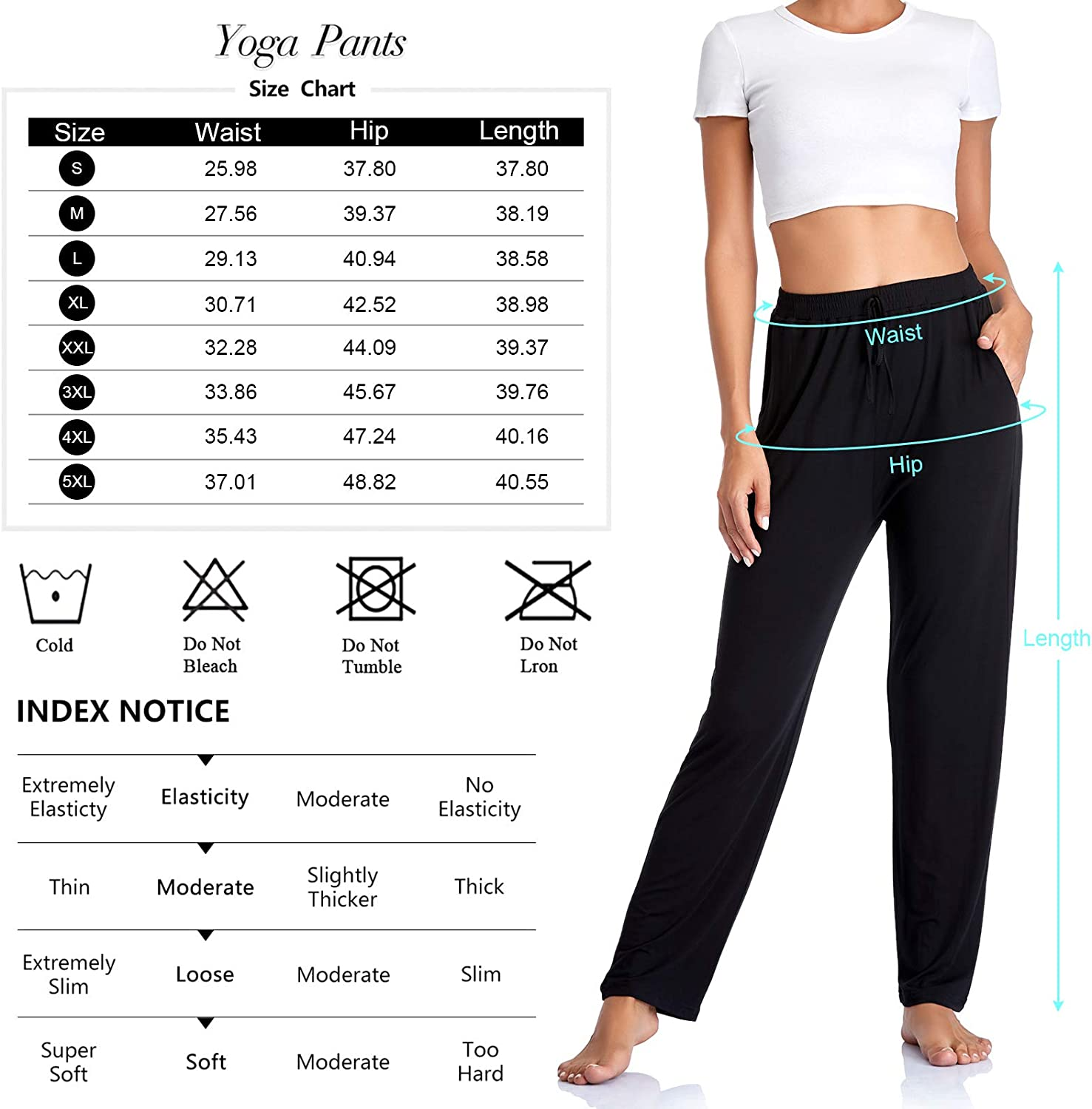 ASIMOON Womens Yoga Pants with Pockets Comfy Wide Leg Loose Straight Lounge Pants Workout Running Athletic Pants for Woman