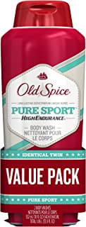 Body Wash for Men by Old Spice, High Endurance Body Wash Twin Pack, Pure Sport, 18.0 fl oz each