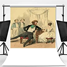 Listening to a Young Victorian Lady Playing The Piano Photography Backdrop,052090 for Photo Studio,Flannelette:6x10ft