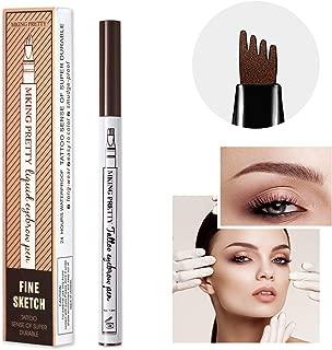 MIUSSAA Chestnut Eyebrow Pencil Brow Tattoo Pen Waterproof Long Lasting Liquid Makeup Soft Brow Gel (Color: Chestnut)