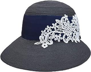 100%完全遮光 99%ではダメなんです! 【Rose Blanc】 帽子 レディース 国産ブレードリボンレースクロッシェ つば裏遮光 020214