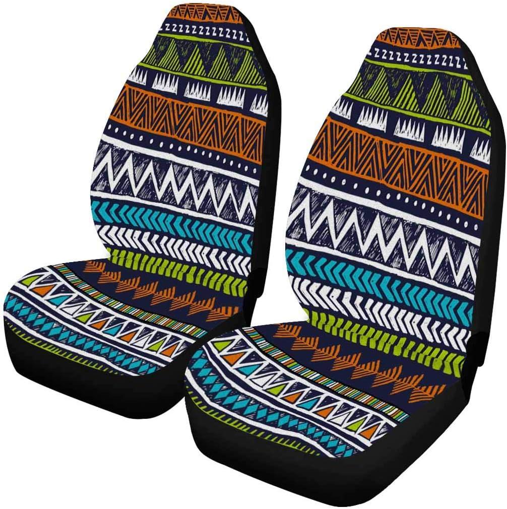 INTERESTPRINT Tribal Aztec Geometric Front Set Seat Car Long-awaited o San Antonio Mall Covers